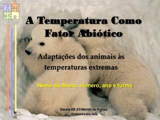 A Temperatura Como Fator Abiótico