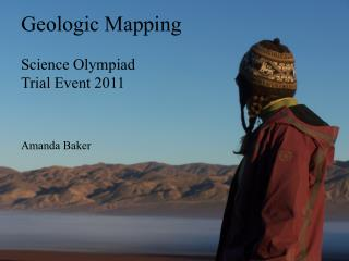 Geologic Mapping  Science Olympiad Trial Event 2011