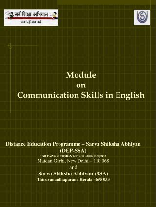 Distance Education Programme – Sarva Shiksha Abhiyan (DEP-SSA)
