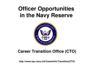 Officer Opportunities in the Navy Reserve