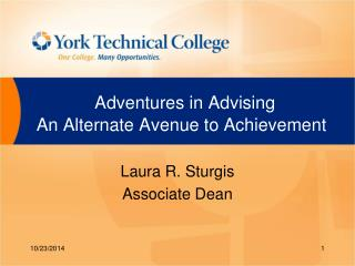 Adventures in Advising  An Alternate Avenue to Achievement