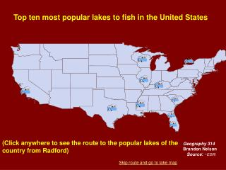 Top ten most popular lakes to fish in the United States