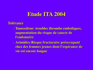 Etude ITA 2004