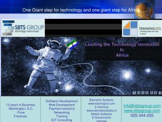 One Giant step for technology and one giant step for Africa
