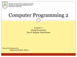 Computer Programming 2