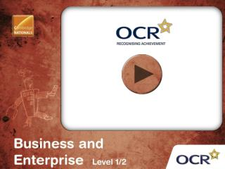 OCR Cambridge National in Business and Enterprise (Level 1 / 2)