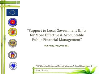 """Support to Local Government Units for More Effective & Accountable Public Financial Management"""