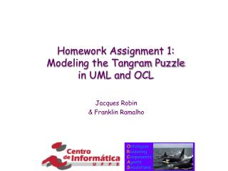 Homework Assignment 1:  Modeling the Tangram Puzzle in UML and OCL