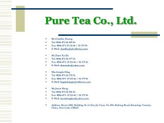 Pure Tea Co., Ltd.