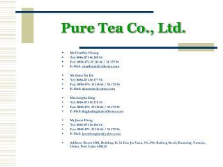 Pure Tea Co., Ltd.
