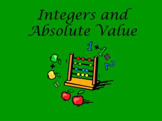 Integers and Absolute Value