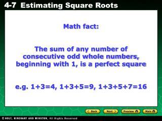 Math fact: