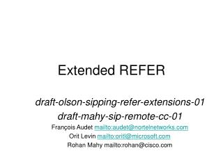 Extended REFER
