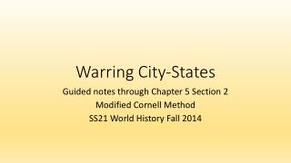 Warring City-States