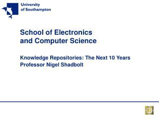 School of Electronics and Computer Science