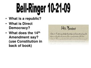 What is a republic? What is Direct Democracy?