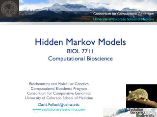 Hidden Markov Models BIOL 7711  Computational Bioscience