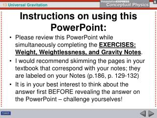 Instructions on using this PowerPoint: