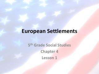 European Settlements