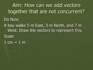 Aim: How can we add vectors together that are not concurrent?