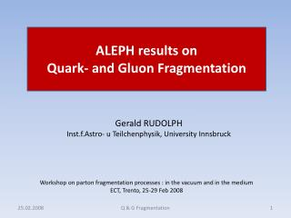 ALEPH results on Quark- and Gluon Fragmentation