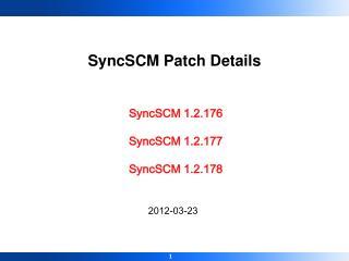 SyncSCM 1.2.176 SyncSCM 1.2.177 SyncSCM 1.2.178