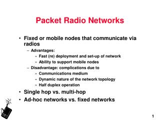 Packet Radio Networks