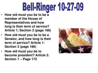 Bell-Ringer 10-27-09
