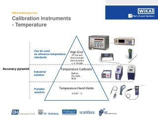 Calibration instruments - Temperature