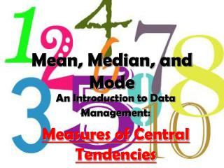 Mean, Median, and Mode