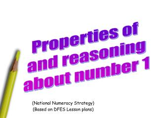(National Numeracy Strategy) (Based on DFES Lesson plans)