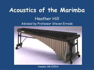 Acoustics of the Marimba