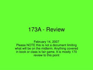 173A - Review