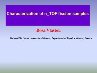 Characterization of n_TOF fission samples