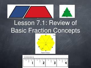 Lesson 7.1: Review of Basic Fraction Concepts