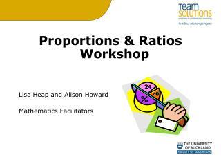 Proportions & Ratios Workshop Lisa Heap and Alison Howard Mathematics Facilitators