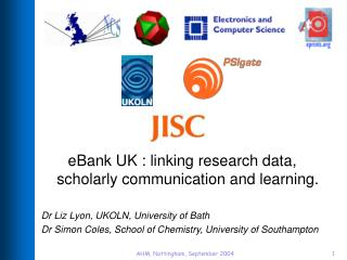 eBank UK : linking research data, scholarly communication and learning.