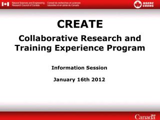 CREATE Collaborative Research and Training Experience Program