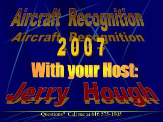 Aircraft  Recognition   2 0 0 7