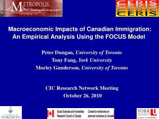 Macroeconomic Impacts of Canadian Immigration: An Empirical Analysis Using the FOCUS Model