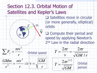 Section 12.3. Orbital Motion of Satellites and Kepler's Laws