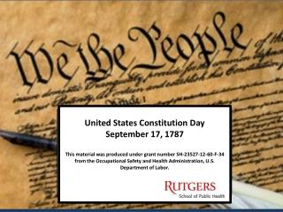 United States Constitution Day September 17, 1787
