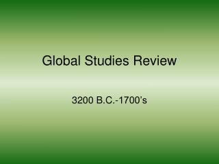 Global Studies Review