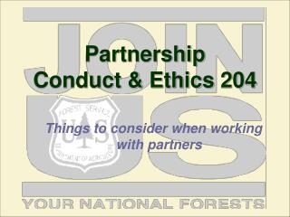 Partnership  Conduct & Ethics 204
