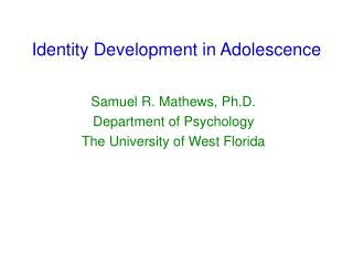 discuss the concept of adolescence as How 18 became 26: the changing concept of adulthood of the adolescent was to find his or her identity as we discuss later.