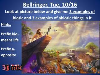 Bellringer, Tue, 10/16