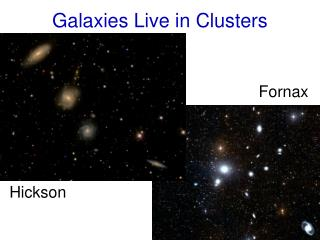 Galaxies Live in Clusters