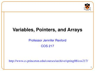 Variables, Pointers, and Arrays