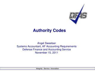 Authority Codes