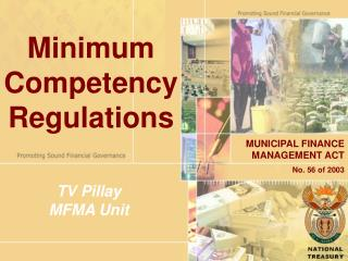 Minimum Competency Regulations